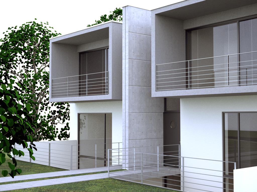 entwurf doppelhaus in darmstadt. Black Bedroom Furniture Sets. Home Design Ideas